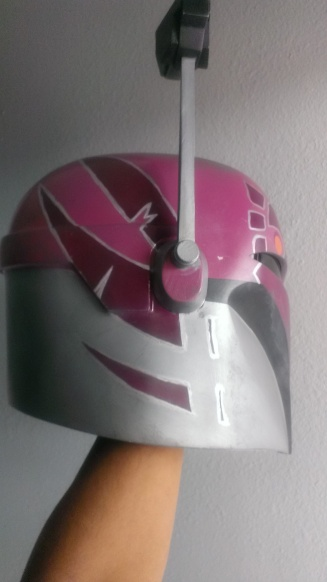 Sabine Wren build helmet painted
