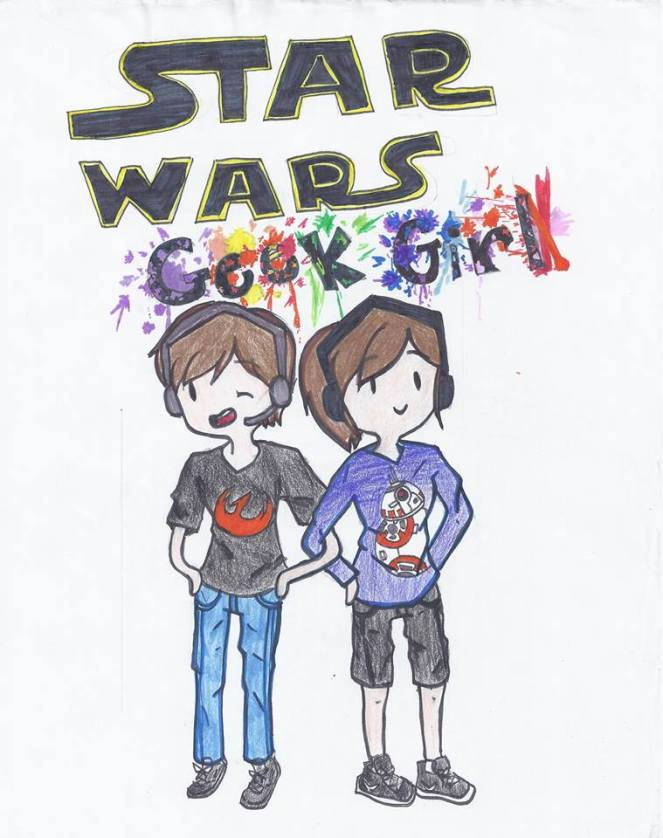 Star Wars Geek Girl art